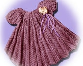 Crochet Pattern for Baby Toddler Dress Tunic ,Girl's Dress Vintage, size  1 and 2...PDF..Instant Download...  .... J263