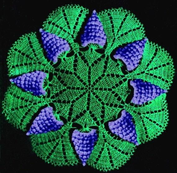 Grape Doily Crochet Pattern ... PDF ... J271