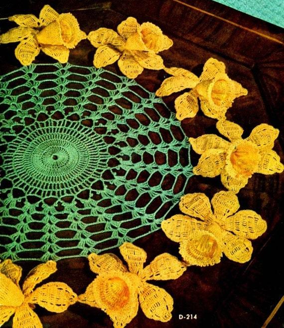 Free Daffodil Doily Crochet Pattern : Daffodil Doily Crochet Pattern.. 14 inch.. and 14 other Floral