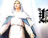 OOAK Virgin Mary premade Etsy Shop banner with free avatar