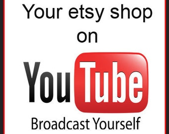 YouTube video made from photos from your etsy shop