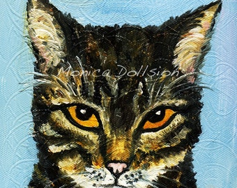 custom hand painted pet  portraits from photo