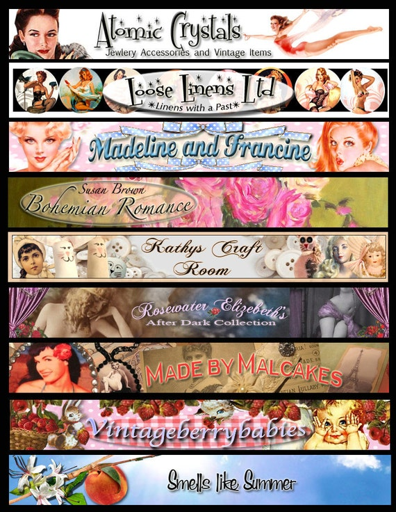 Custom Etsy shop banner  with a free avatar