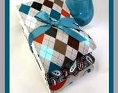 Baby Boy Burp Cloth Set of 3 Classy Premium Argyle Burping Trio For Important Burping Business