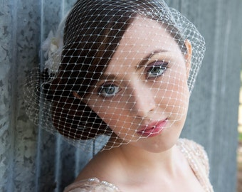 Kat Swank Birdcage Veil- Made to Order- Custom Colors Available