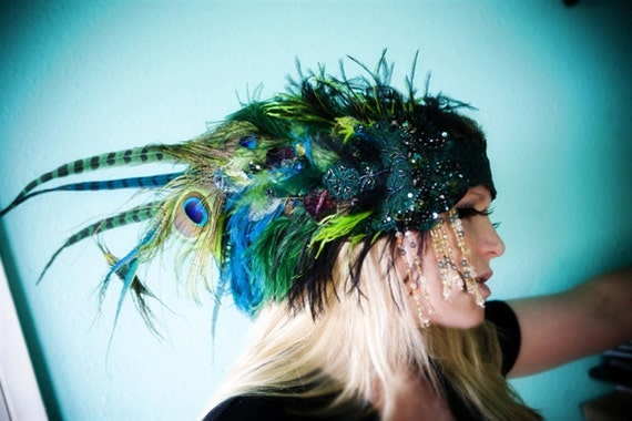 The Envy Headdress- Custom Colors Available- OOAK Made to Order, Bespoke