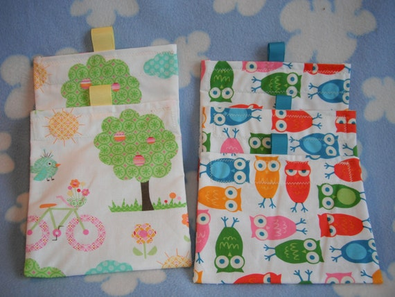 5 Reusable Snack Sandwich Bags Baggies Combo Package