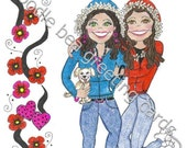 Thinking of You Sister - Friendship Card - (T118)