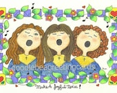 Inspirational Friendship Card - Make A Joyful Noise (IN101) Time To Rejoice