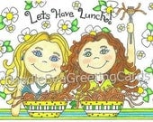 Friendship, Thinking of You Greeting Card (F101) Let's Have Lunch
