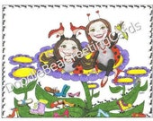 Life's Journey, Just For Fun Greeting Card (J111) Ladybugs Journey