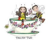 Happy Anniversary Greeting Card, I Love You, Just Because (A105) Tea For Two