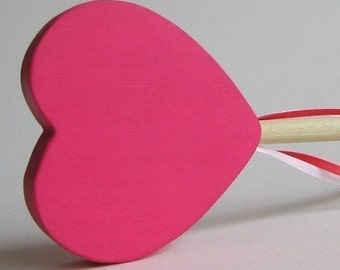 Pink Heart Wand Eco-friendly Wooden ValentinesToy