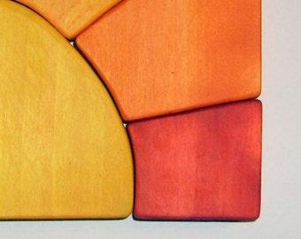 Wooden Sunshine  Waldorf Puzzle