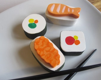 Sushi- wooden playfood toy waldorf natural