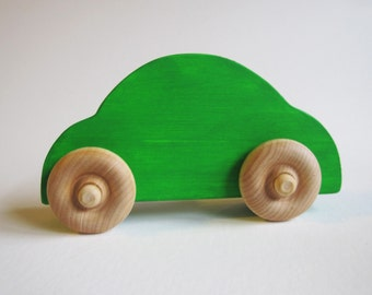 Wooden Sedan Style Car Imagination Kids Waldorf Toy