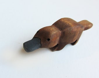 Wooden platypus Toy  Eco-friendly Gift Waldorf Geek Nerd Oddity