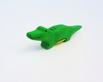 Wooden Alligator Toy Gift Waldorf Crocodile