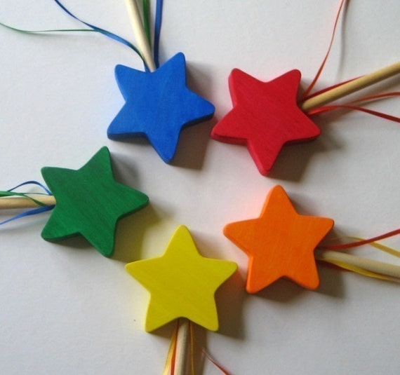 Wooden Wand Star Fairy Princess Eco-friendly toy Imagination Kids