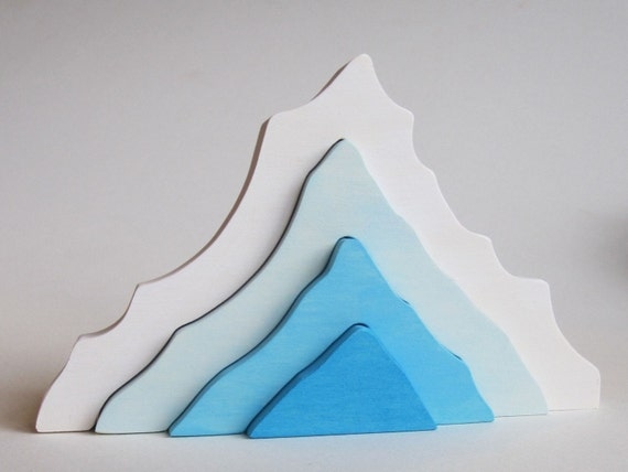 Iceberg Stacking toy Natural Wooden Toy Imagination Kids