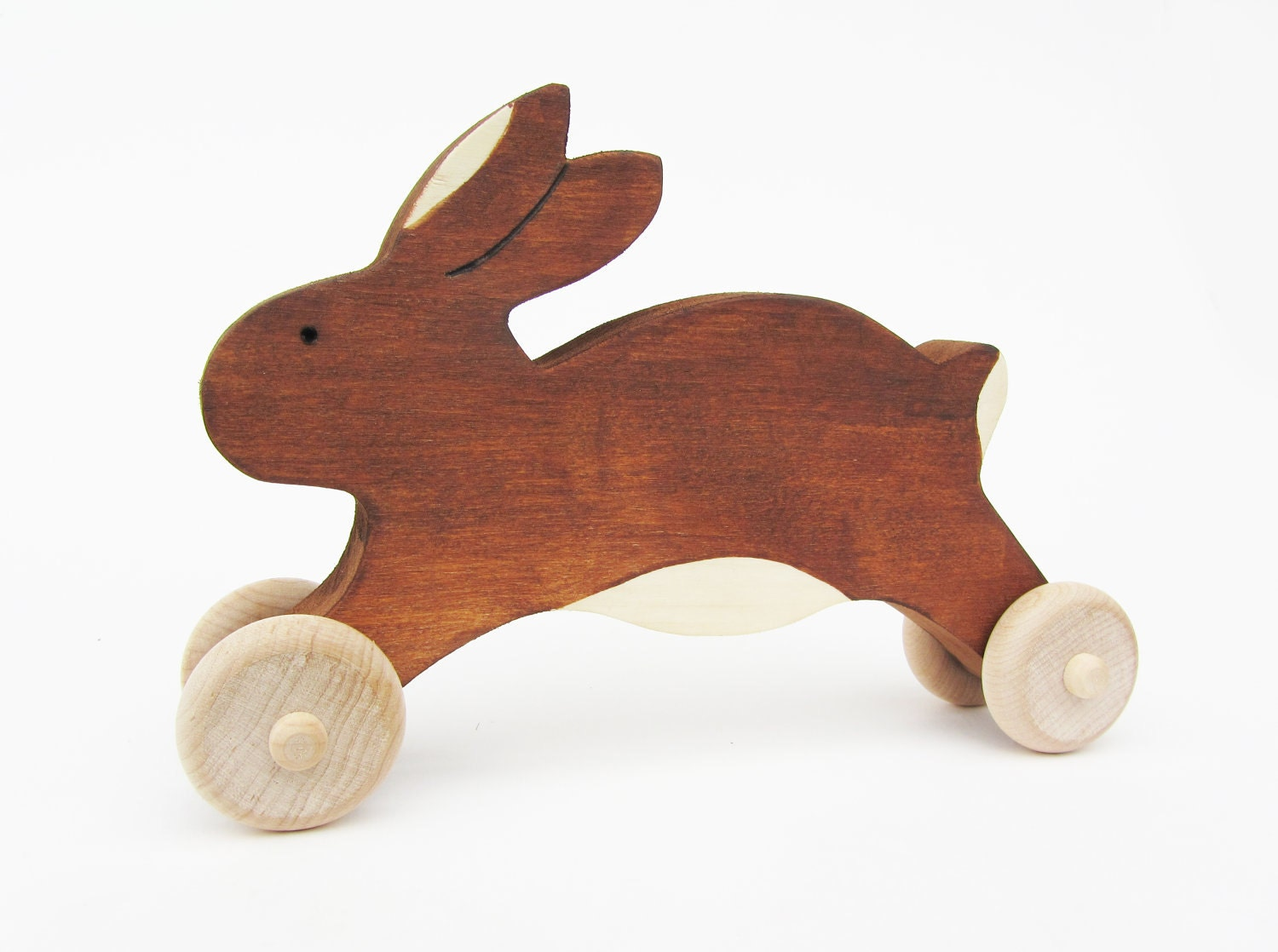 Wooden easter bunny toy easter rabbit gift eco friendly zoom negle Images