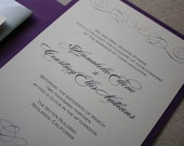 Timeless Elegance Eco-Friendly Wedding Invitation Suite Sample