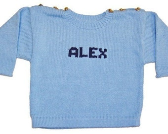 Personalized Sweater - Button Shoulder