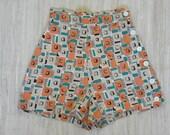 1950's Atomic Print Shorts -- S