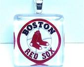 Glass Tile Pendant Boston Red Sox Baseball NBA