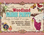 Enchanted Woodland Fairy Party Invitation