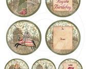 Princess and Knight Royal Party - Printable Circular Tags 2 Sizes