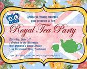 Royal British Party Invitation - Birthday, Baby Shower Tea Party, Bridal Shower Tea Party and More