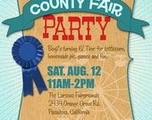 County Fair Party Invitation - birthday, BBQ, or any occasion
