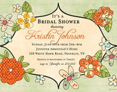 Pretty Posies Sophisticate Invitation- Garden Party, Baby Shower, Birthday, Bridal Shower