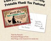 Snow White Party Printable Thank You Postcards