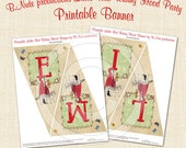 Printable Little Red Riding Hood Personalized Banner - digital file delivery