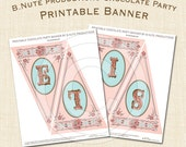 Printable Chocolate Party Personalized Banner - digital file delivery