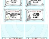Cake Party - Assorted Printable Party Cards