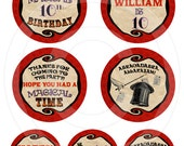 Magic Party - Printable Circular Tags 2 Sizes - Digital File Delivery