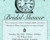 Around the Clock Shower Invitation -  Bridal or Baby Shower