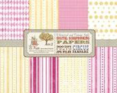 Circus Fanfare Digital Scrapbook Paper Pack
