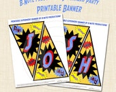 Superhero Party Personalized Banner - digital file delivery