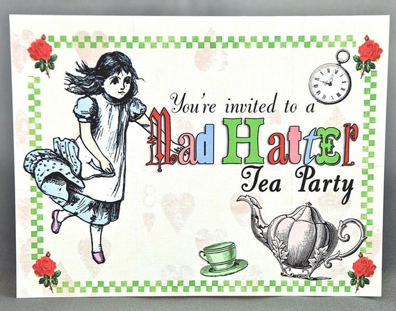mad hatters tea party invitation template | futureclim, Party invitations