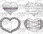 50% OFF SALE: Sweet and Spicy Hearts Collection - Digital Stamps