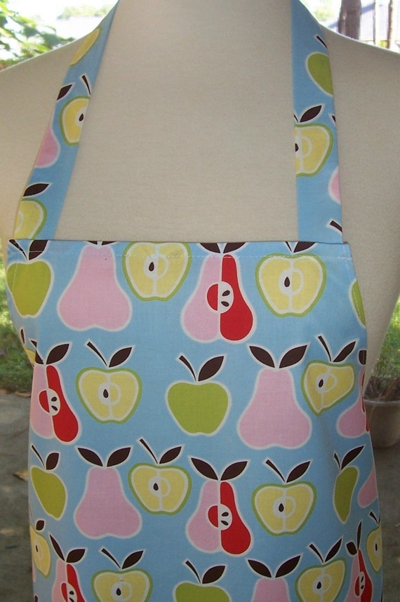 Womens Full Apron - Apples and Pears