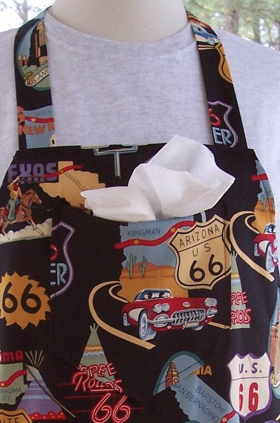 SALE Mens BBQ Apron - Route 66