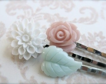 Sweet And Simple Hair Pins.  Silver.