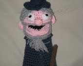 Crocheted Wizard Hand Puppet