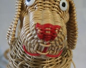 VIntage wicker doggy purse