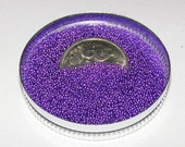MicroBeads - No Hole Beads OOAK embellishment - ROYAL PURPLE